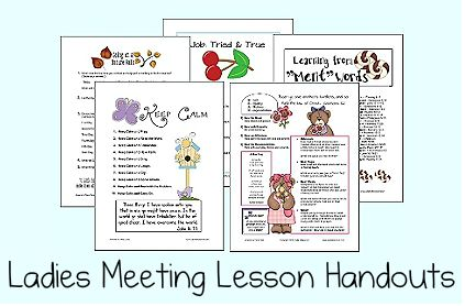 Womens Ministry Printable Lesson Handouts and Study Sheets ...