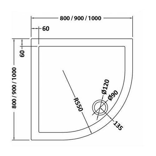 Standard Shower Tray Slate Grey Hudson Reed Size 40mm H X 800mm W X 800mm D Hudson Reed Walk In Shower Tray Quadrant Shower