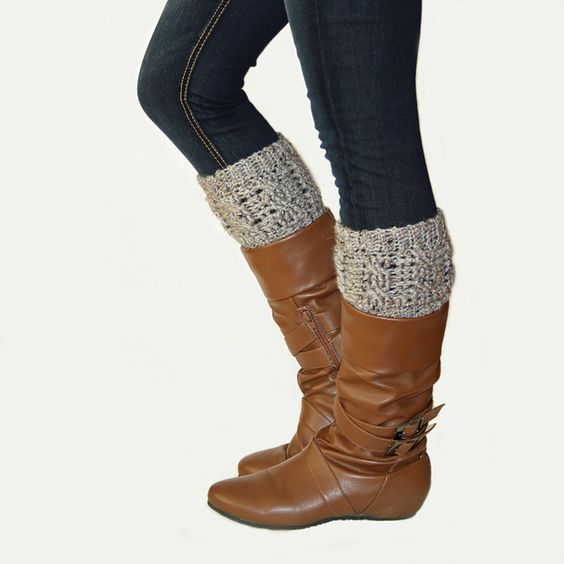 Ravelry: Cabled Boot Cuffs pattern by Kim Miller