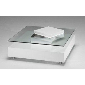 On aime la table basse joly laque blanche by marais international pour son d - Plaque de verre pour table basse ...