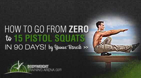 Do you have trouble doing Pistol Squats? Check out this pistol squat workout and progression on how to count to 15 Pistol Squats in a matter of a months!