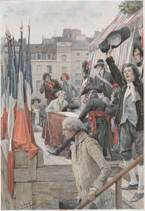 L'Enrôlement (1792) - oeuvre de Myrbach