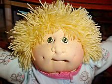 "CPK soft sculpture Cabbage Patch JADE EDITION Toddler blonde green 16""  Freckles"