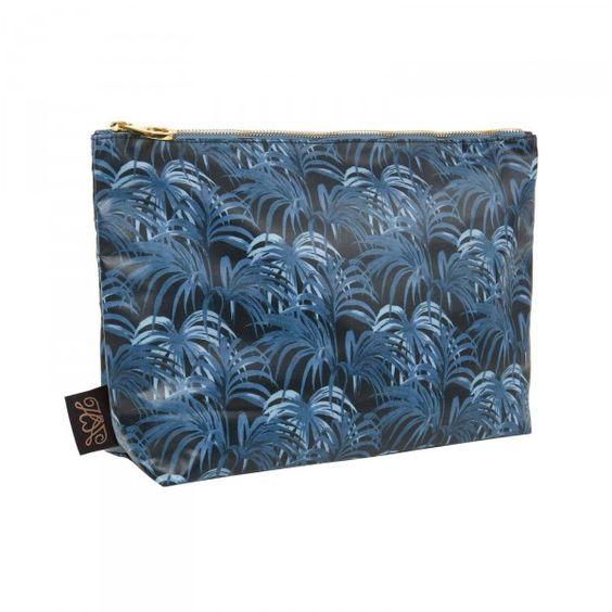 PALMERAL Large Envelope Wash Bag - Midnight / Azure