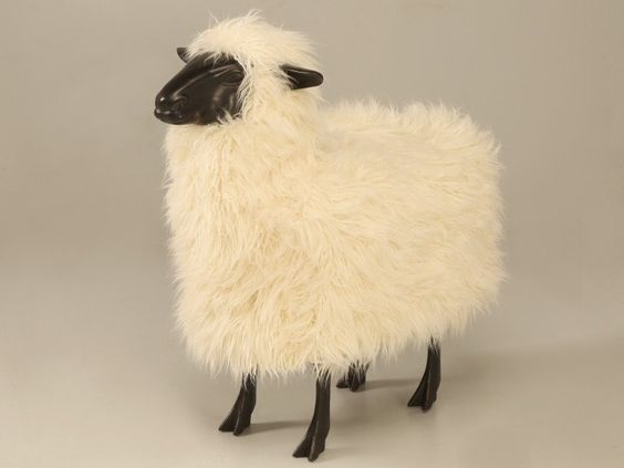 Life Size Lalanne Sheep in Dark Resin ( in the style of) by AntiquesOnOldPlank on Etsy