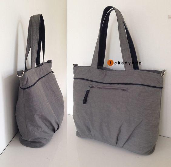 SALE  Gray Waterresistant Diaper bag with Zipper by ickadybag, $33.30