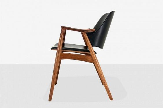 Original retro stol i teak. Vintage design ved Dokka Møbler ...