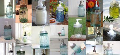 Mason jar dispenser tutorial.