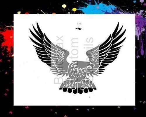 American Eagle 01 Airbrush Stencil,Template