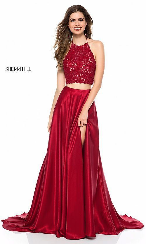 Sherri Hill Long Halter Two Piece Prom Dress En 2019
