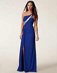 Elise Maxi Dress - Forever Unique - Blå - Festklänningar - Kläder - NELLY.COM Mode online på nätet