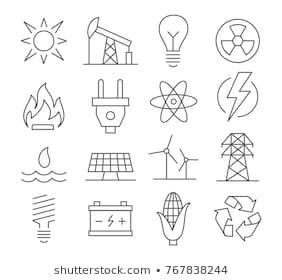 Energy Icon Images Stock Photos Vectors Shutterstock Line Icon Icon Set Light Bulb Icon