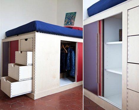 Fotos de vestidores peque os para aprovechar el espacio - Dormitorios juveniles espacios pequenos ...