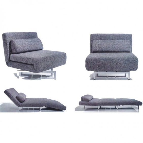 Iso Chairbed 360 degree swivel chair that converts into a single - design armsessel schlafcouch flop