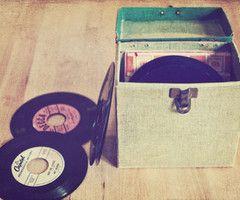 45's      die 40er und 50er Jahre alte alte Single Vinyl Platten