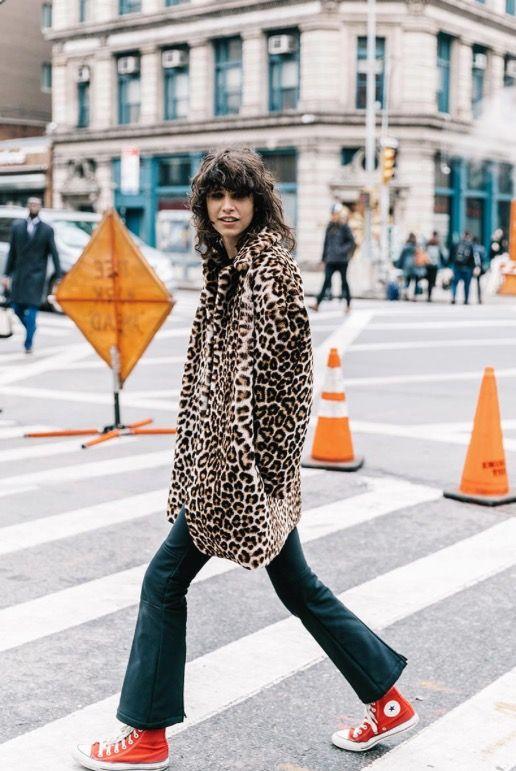 Leopard print with converse! (Photo: Vogue)