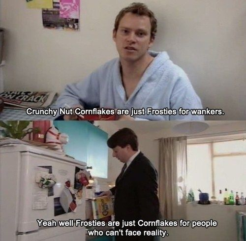 "When someone tries to push their optimistic world view onto you. | 34 ""Peep Show"" Quotes That Sum Up Your Weird, Awkward, Boring Life"