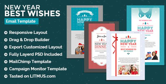 Christmas New Year Newsletter Builder Access Email Marketing Template Email Templates Marketing Template