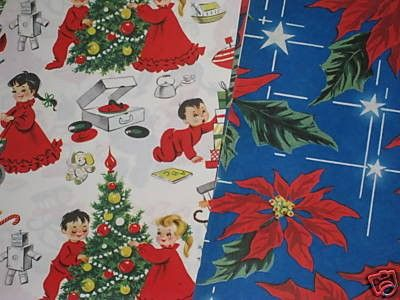 Vintage 1940s & 50s Gift Box Wrapping Paper Christmas (12/12/2008)