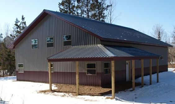 Steel buildings with living quarters floor plans click for Metal buildings with living quarters plans