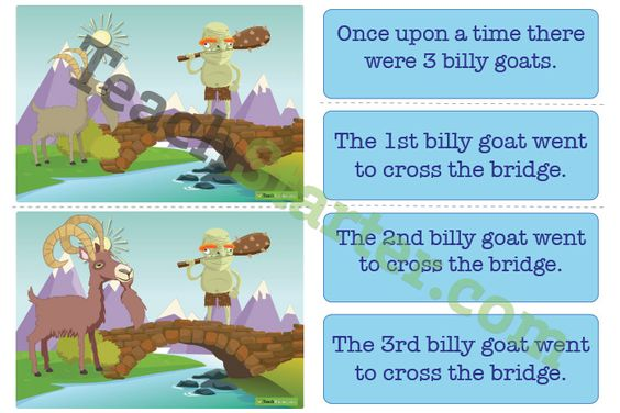 3 Billy Goats Gruff Sequencing Activity Cards Teaching Resource