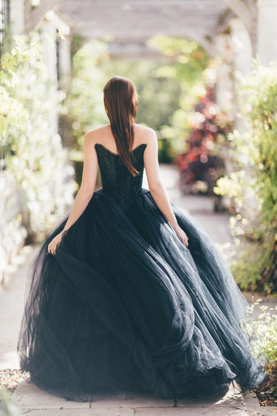 Black Wedding Dress by Chantal Mallett   photo by Sanshine Photography