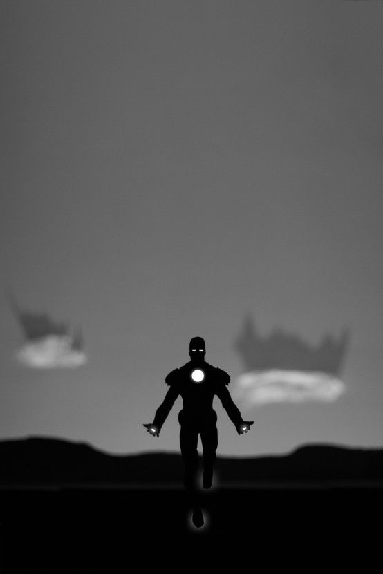 Iron Man paper cut out.