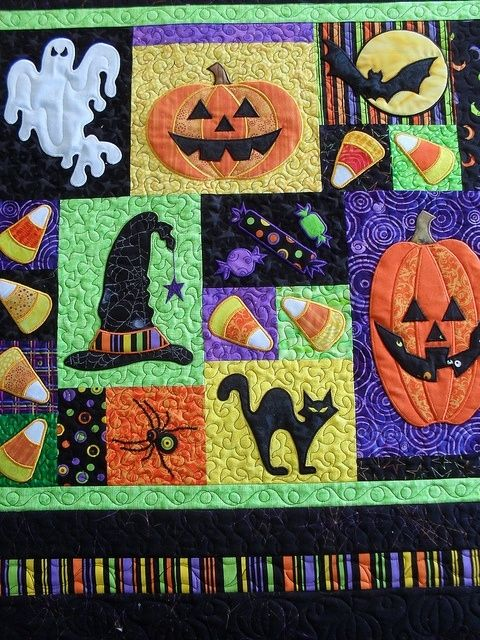 Halloween by Jessica\u0027s Quilting Studio, via Flickr by meagan
