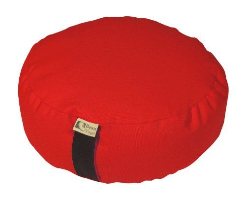 Bean Products Round Modern Zafu with Buckwheat - Pictured: Red