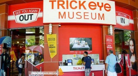 Bảo tàng đánh lừa thị giác Trick Eye Museum Singapore nằm trên hòn đảo Sentosa