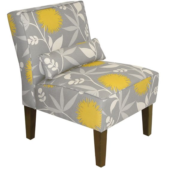 Skyline Furniture Armless Chair in Polly Dove by Skyline Furniture
