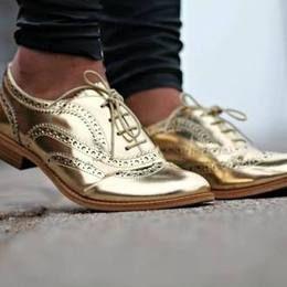 Sam Edelman Golden Flat Shoes