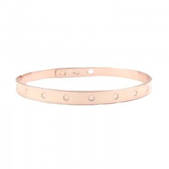 Bracelet Jonc Etoile Rosé