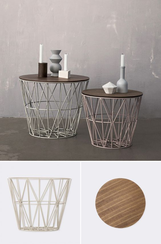Can easily make this from a wire basket and piece of wood...