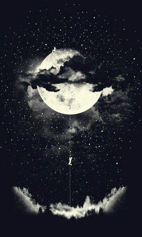 على قدر ح لمك تتسع الأرض ف احلم إلى أن ت صبح الأرض فضاء و تزداد النجوم Moon Art Art Iphone Mobile Wallpaper