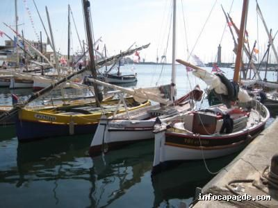 Local working traditional latin boats at 'Escale à Sète festival', which was a hugely popular  and inspiring success.