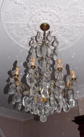 lustre pampilles 8 branches french auction treasures pinterest lieux art et branches. Black Bedroom Furniture Sets. Home Design Ideas