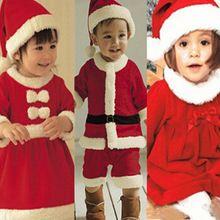 Enfants enfants bébé d'hiver de noël Santa Claus Romper Jumpsuit vêtements Set(China (Mainland))