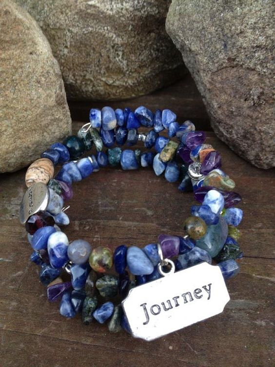 Journey Meditations three wrap memory wire by DFInspirations, $30.00