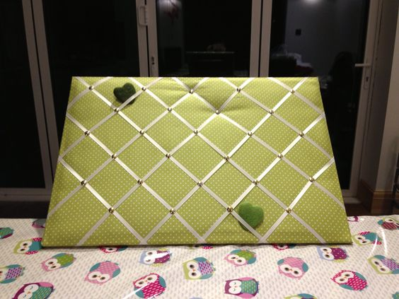 Cute green pin board