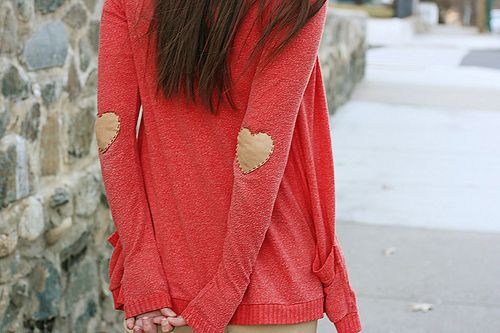 DIY Heart Elbow Patches - Holly Dolly