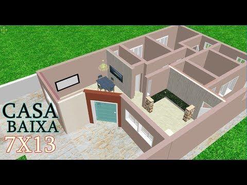 Plano Para Casa Terrea Com Medidas Youtube Plano De Casa
