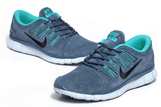 Nike Free Run 50 EXT Suede Shoes CadetBlue Mint Green Black Mens  Ireland6jpg