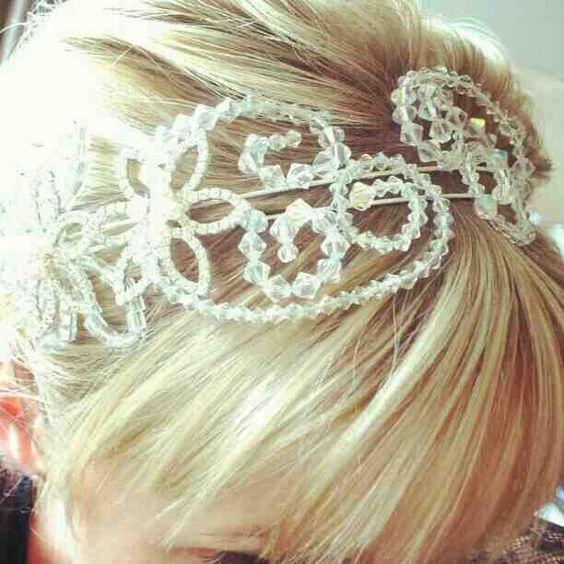 Romy Headpiece by melanie brooks bespoke tiara headpieces @Peter Doherty