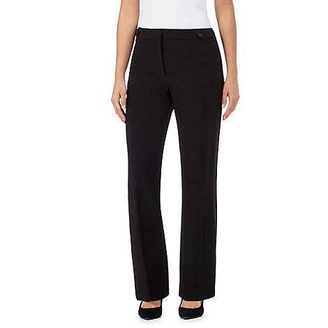 The Collection Petite Black bootcut petite trousers | Debenhams