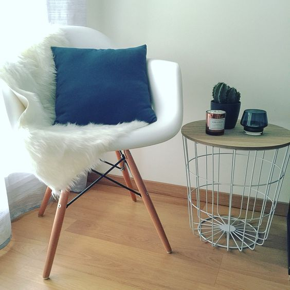 Eames inspiration and tables on pinterest for Chaise eames bleu petrole