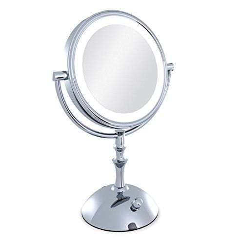 Moiom 8 Inch Double Sided 1x 10x Magnification Led Lighted Makeup