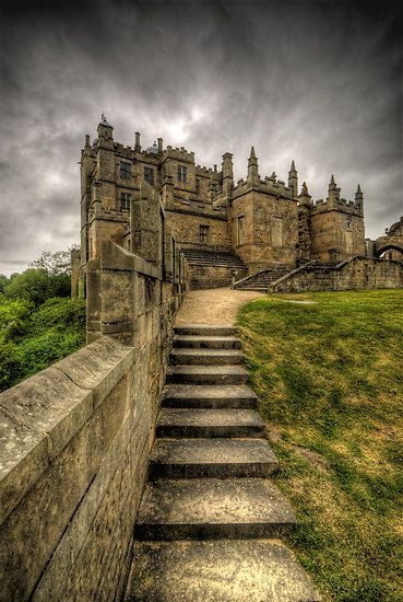 Bolsover Castle, England - Bolsover Castle is a castle in Bolsover, Derbyshire, England. It was built by the Peverel family in the 12th century and became Crown property in 1155 when the third William Peverel fled into exile. The Ferrers family who were Earls of Derby laid claim to the Peveril property.