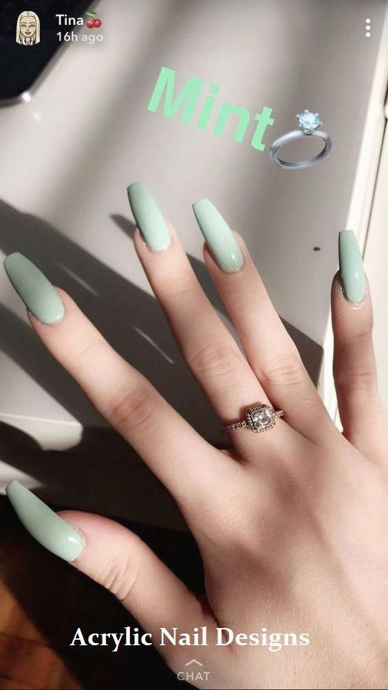 20 Great Ideas How To Make Acrylic Nails By Yourself Acrylicnails Nailideas Green Nails Nails Now Trendy Nails