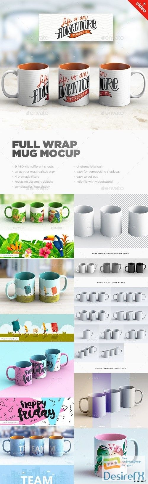 Download Full Wrap Mug Mockup 21642291 Desirefx Com Mugs Mockup Photoshop Projects